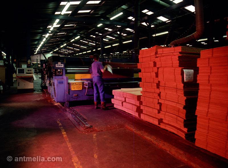 Factory interior photo shoot