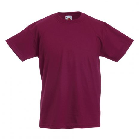 Fruit-Of-The-Loom-Childrens-Valueweight-T-Shirt-burgundy