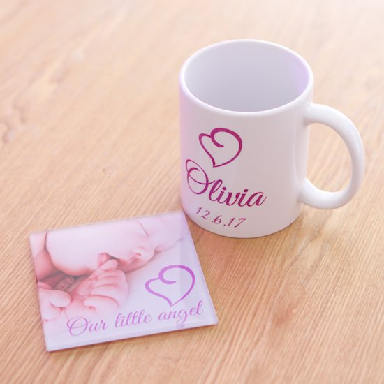Design Your Own Two Panel Mug And Glass Coaster Set Ant