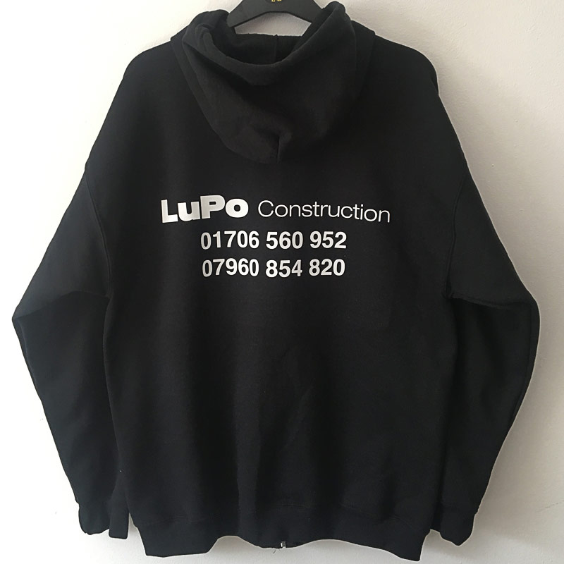 Hoodie printing for construction company