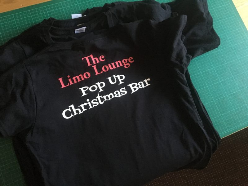 Limo Lounge xmas t-shirt rear group