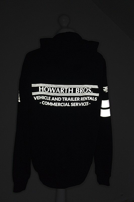 Hoodie with reflective print detail