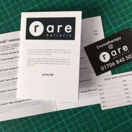 Rare Holistic Price List Appointment Cards Promotional Photo