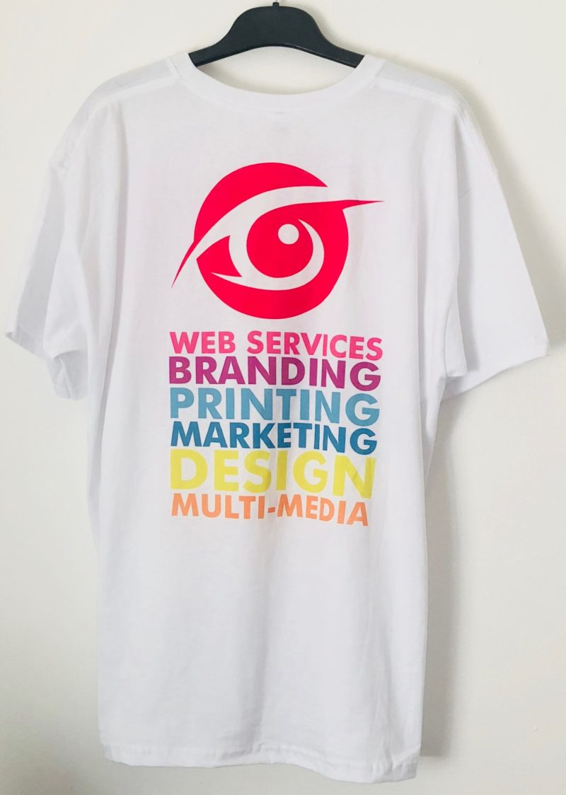 Sample colour print tshirt