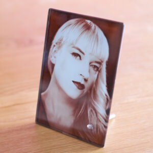 Glass Picture Frame With Built In Stand – 11cm x 16cm