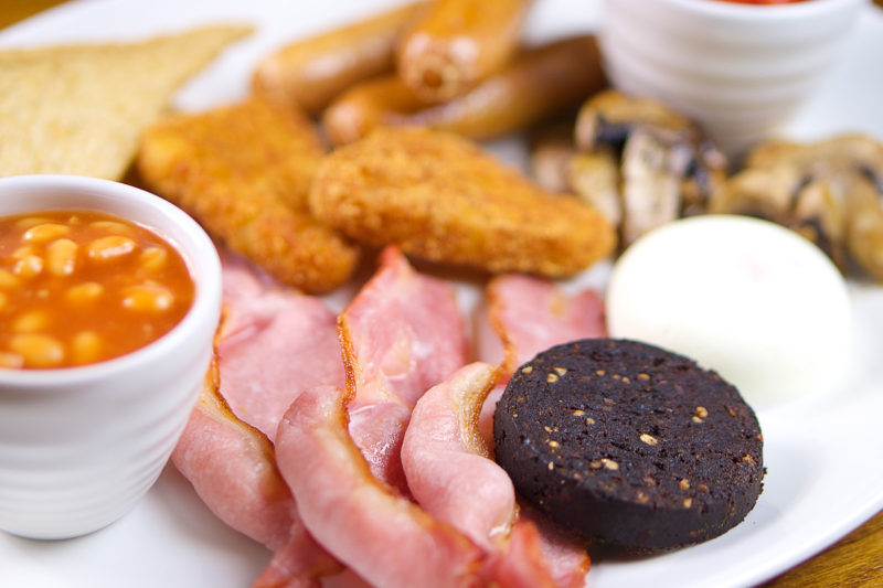 food photography full english breakfast