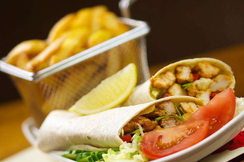 food photography oldham chicken wrap